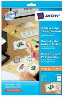 Avery Zweckform Lernkarten 127x76mm bedruckbar Lern-Zettel Karten Schule Studium