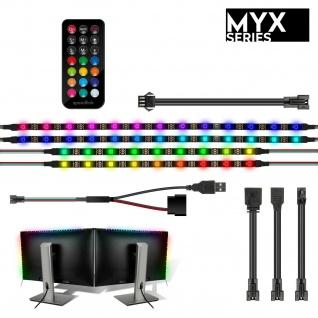 Speedlink MYX LED PC 2x Monitor Kit Stripe Leiste Beleuchtung Gaming Bildschirm