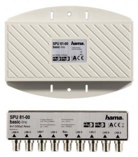 Hama DISEqC Schalter 8/1 Switch 8 1 HDTV Full-HD 3D Sat-Verteiler Multiprotokoll
