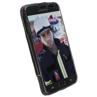 Krusell Classic Case Clip Leder-Tasche Cover für Samsung Galaxy Note N7000 i9220