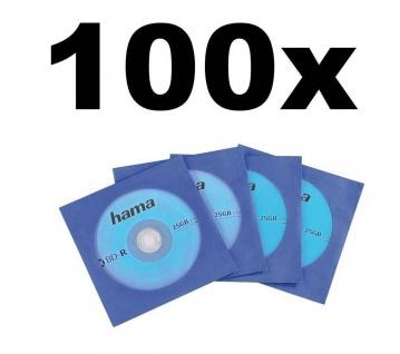 Hama 100x Stück PACK Blu-Ray Papierhüllen Hüllen Sleeves CD DVD Sichtfenster
