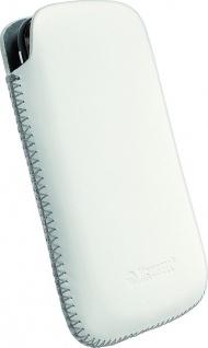 Krusell Donsö Mobile Pouch L white Leder-Tasche Etui Flap Bag Hülle