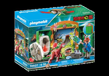 Playmobil 70507 Spielbox Dinoforscher Dinosaurier Spielzeug Entdecker Forscher