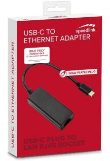 Speedlink HQ USB-C auf Ethernet Adapter-Kabel LAN Netzwerk-Adapter Typ C zu RJ45 - Vorschau 3