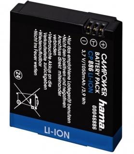 Hama Li-Ion Ersatzakku Akku Batterie für GoPro HD Hero 960 Motorsport Surf Naked