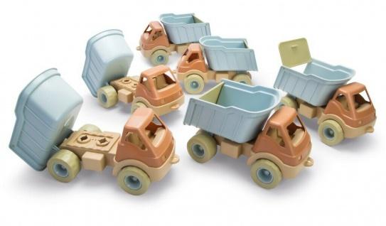 Dantoy Bio LKW Spiel-Fahrzeug Spielzeug Auto Lastwagen Kindergarten-Set 6 Stück
