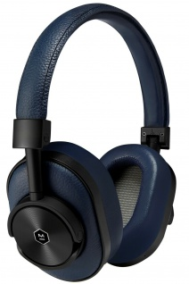 Master & Dynamic MW60 Navy Wireless Headset Bluetooth Leder Kopfhörer Earphones