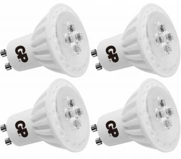 4x PACK GP LED Strahler GU10 6W / 35W dimmbar Warm-Weiß Lampe Glüh-Birne Leuchte