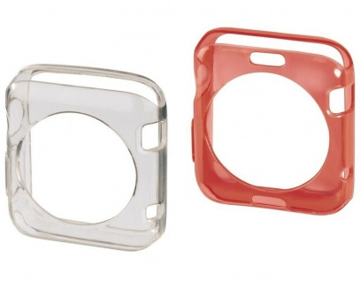 Hama 2x Schutz-Hülle Set Skin TPU Cover Case für Apple Watch 38mm Series 0 1 2 3