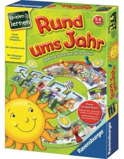 Ravensburger Rund ums Jahr Lernspiel Tage Monate Jahr Lernen Puzzle Würfel-Spiel