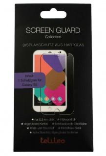 Telileo Glas-Folie Schutz-Folie Hart-Glas Panzer Display für Samsung Galaxy S6