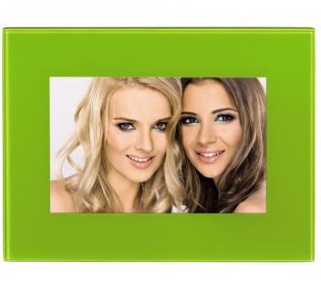 Hama Portraitrahmen Glas Grün 10x15cm Portrait Bilder-Rahmen Foto Bild Porträt