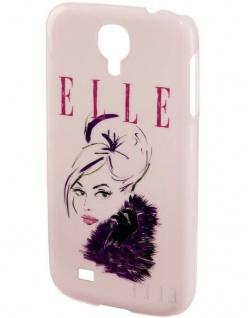 ELLE Lady Pink Hard-Cover Schale Hülle Bumper Tasche für Samsung Galaxy S4 Mini