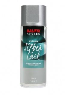 Baufix Lack-Spray Silber Optik 400ml Sprüh-Dose Spray-Dose Sprüh-Lack Farb-Spray