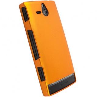 Krusell Hard-Cover orange Tasche für Sony Xperia U ST25i Schutz-Hülle Case Box