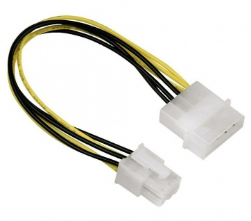 "Hama Strom-Adapter 4 Pin Molex Strom Stecker 5, 25"" > 6 Pol PCI Express Buchse"