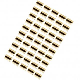 AIV 50x Aderendhülse 20mm² vergoldet Aderendhülsen Gold Kabel-Litze Kabel-Schuhe