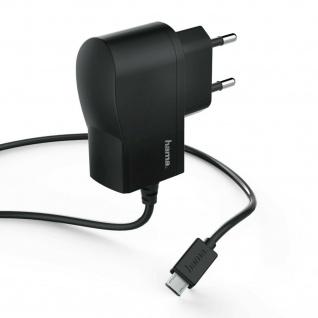 Hama Ladegerät Micro-USB 12W Netzteil LED-Licht Ladekabel 1m für Handy Tablet