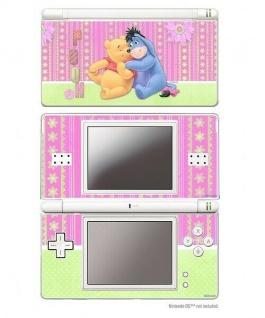Design Folie Schutzfolie Skin Motiv Winnie Pooh + Esel I-Ah für Nintendo DS Lite
