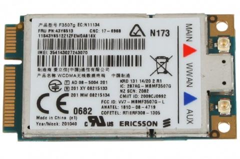 Lenovo 3G Broadband UMTS Karte HSDPA Adapter Mini-Card PCIe PCI Express ThinkPad