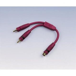 Hama CarHiFi RCA Y Cinch Adapter 1In-2 Out OFC- Kabel geschirmt Brombeer 0, 15m - Vorschau