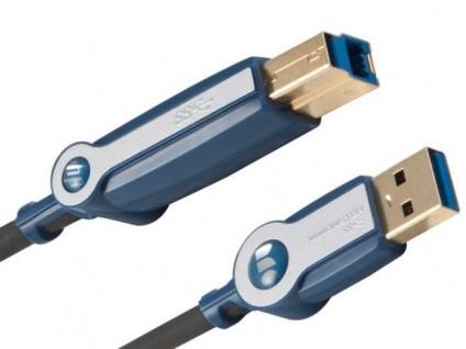 Monster HP HQ 2, 1m USB 3.0 USB-Kabel Ultra High-Speed Anschluss-Kabel PC Drucker