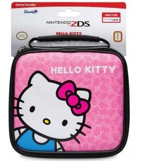 Nintendo Licensed Hello Kitty Tasche Hard-Case Hülle für 2DS Konsole + Zubehör