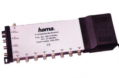 Hama Sat - Multischalter 5/8 NT A Eingänge 4x SAT 1x terrestrisch 8 Ausgänge