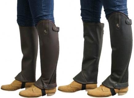 QHP Leder-Chaps Reitchaps Minichaps Beinchaps Stiefel-Schaft Kinder/Erwachsene
