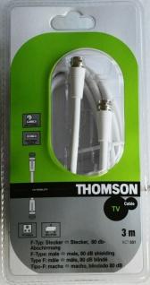 Thomson 3m Sat-Kabel F-Typ F-Stecker Antennen-Kabel 80db Koaxial-Kabel weiß