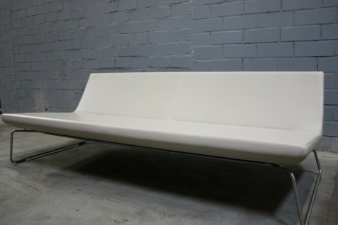 Cappellini Designer Sofa Barber Osgerby Superlight 530 Leder Muschel creme Top
