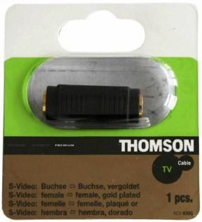 Thomson S-Video Adapter GOLD Kupplung - Kupplung Verlängerung SVHS S-VHS Hosiden
