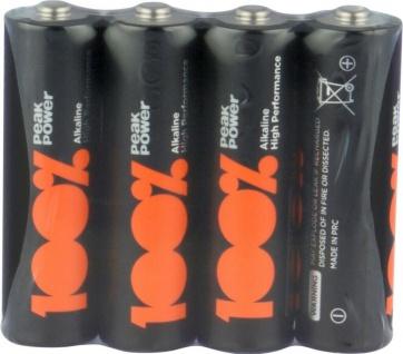 GP Peak-Power 100% AA-Batterie 4er Pack 1, 5V Alkaline AA-Batterien Mignon LR06