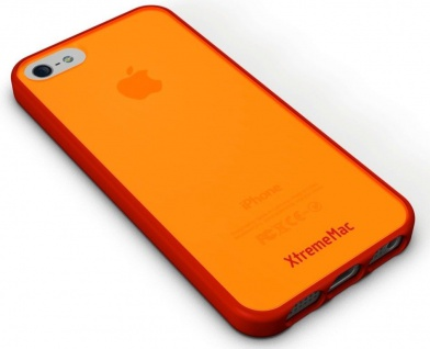 XtremeMac Design Cover Rot Bumper Hülle Hardcase Tasche für Apple iPhone 5S 5