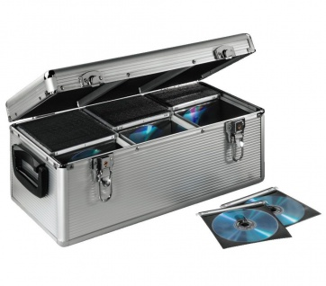 Hama CD DVD Koffer 390x CDs Silber DJ Case Aufbewahrungs-Box Alukoffer Alu-Kiste