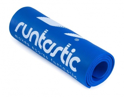 Runtastic Fitness-Matte Blau Dick Gymnastik-Matte Yoga-Matte Sport Turn-Matte