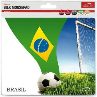 Speedlink Mauspad Motiv Mousepad Brasilien Fahne Brasil Maus Mouse Pad EM WM