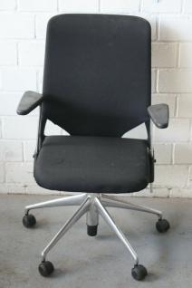 Vitra Meda Chair 2 Bürodrehstuhl mit netz-Bezug Chrom-Gestell drehbarer Stuhl