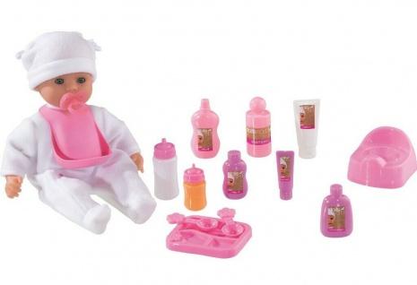 Dolls World Little Treasure Baby Mädchen Puppe rosa Lebensecht mit viel Zubehör