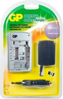 GP Akku Batterie Ladegerät + KFZ Lader für Samsung universal SLB- 0937 SLB-1237