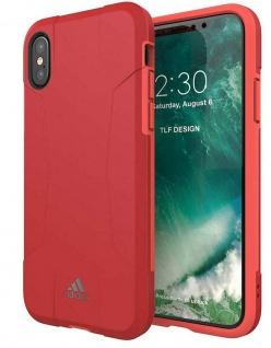 Adidas Solo Pink Cover Hard-Case Tasche Schutz-Hülle Box für Apple iPhone X / Xs