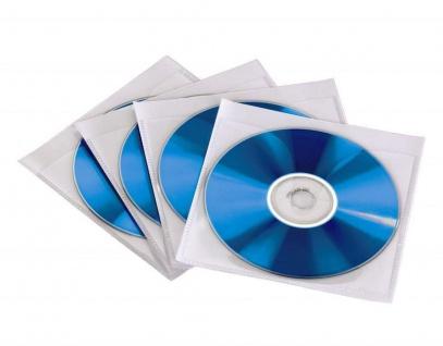 Hama 50x CD-Hüllen selbstklebend CD-Taschen zum Einkleben für CD DVD Blu-Ray
