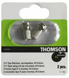 Thomson 2x F-Stecker auf Koaxial-Kabel F-Typ Antenne Koax-Kabel TV Sat Verbinder