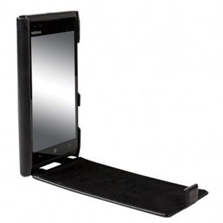 Krusell Flip-Cover Leder Flip-Tasche für Nokia Lumia 900 Schutz-Hülle Flap Etui