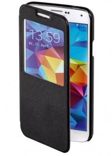 Hama Handy-Tasche Flap Case Etui Klapp-Tasche Hülle für Samsung Galaxy S5 S-View