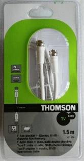 Thomson 1, 5m Sat-Kabel F-Typ F-Stecker Antennen-Kabel 80db Koaxial-Kabel weiß