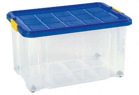 Rival Eurobox Stapel-Behälter Kunststoff-Box Transportbox Kiste Box mit Rollen