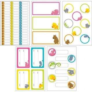 Kinder Namens-Etiketten Namens-Aufkleber Sticker Bücher Hefte Schule Spielzeug