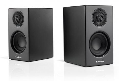 Audio Pro Addon T8L Black Bluetooth 2x Aktiv Regal-Lautsprecher Boxen BT Speaker