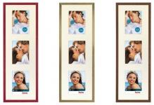 Hama Holz-Rahmen Galerie-Rahmen Giulia 61x20 Foto-Collage Bilder 3x 10x15cm Bild